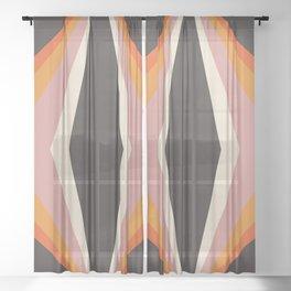 Retro Cubed Sheer Curtain