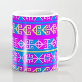 Colorful Mexican Aztec geometric pattern Coffee Mug