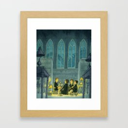 Dragon Tales In The Library Framed Art Print