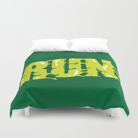 run Duvet Covers featuring Run by Gus Oenning