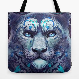 Snow Leopard Late Night Tote Bag