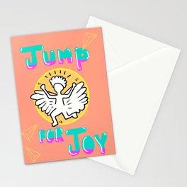 Jump for Joy Happy Illustration Stationery Cards