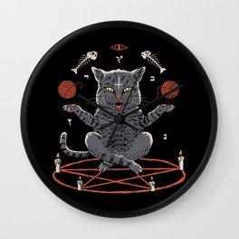 Devious Cat Wall Clock