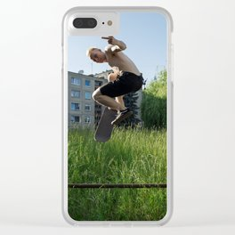 Sk8 or D13! Clear iPhone Case
