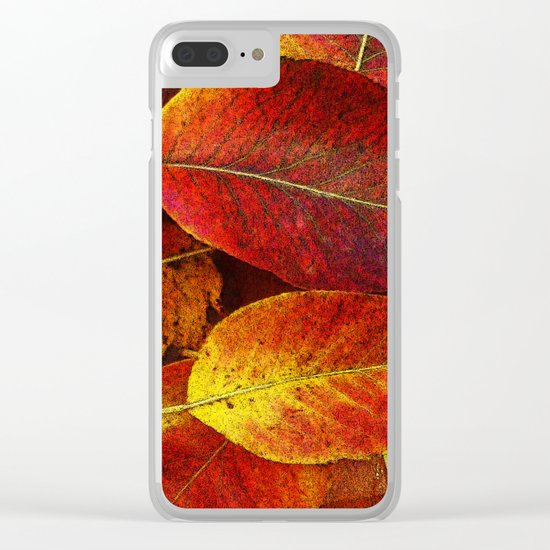 SUN SHINES ON AUTUMN LEAVES Clear iPhone Case