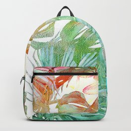 tropical and abstract tropical painting pattern Backpack