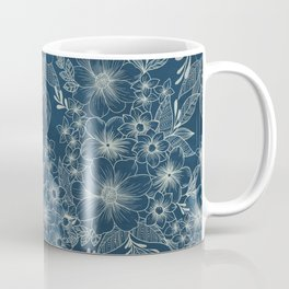 indigo bloom // repeat pattern Coffee Mug