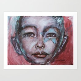 Star Boy Superhero Art Print