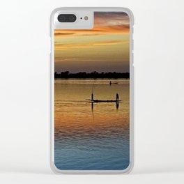 River Niger sunset - Segou, Mali, Africa Clear iPhone Case