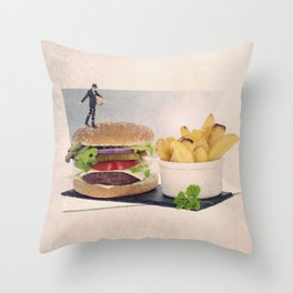 the sesame seed sower Throw Pillow