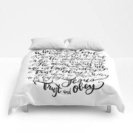 Trust and Obey - Hymn - BW Comforters