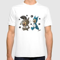 Super Totoro Bros. White LARGE Mens Fitted Tee
