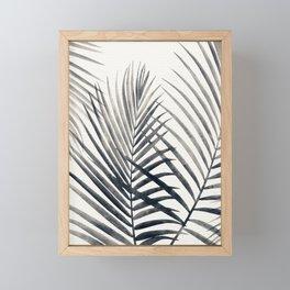 Black and White Palms Framed Mini Art Print