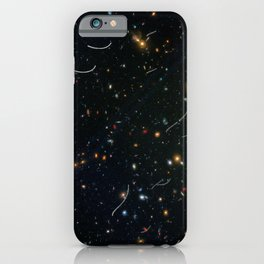 Hubble Space Telescope - Abell 370 Parallel Field with Asteroids iPhone Case