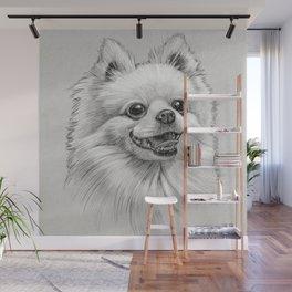 Smiling Dog (Pomeranian) Wall Mural
