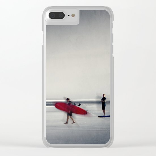 RED surfBoard 16 Clear iPhone Case
