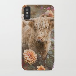 Flower Cow iPhone Case