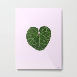 Cyclamen leaf - pink Metal Print
