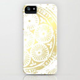 power of one: white gold iPhone Case