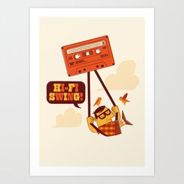 The tapecist Art Print