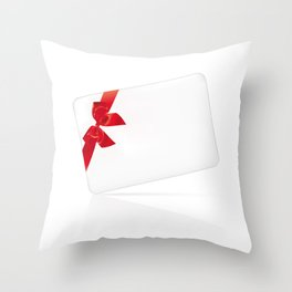 Card with red bow Throw Pillow