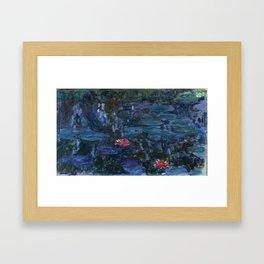 Claude Money's Nympheas Reflets de Saule Framed Art Print