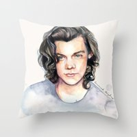 coconutwishes Throw Pillows featuring Harry Watercolors II by Coconut Wishes