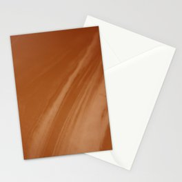 Blurred Sepia Wave Trajectory Stationery Cards