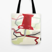 paper towns Tote Bags featuring Paper Towns by Dreki