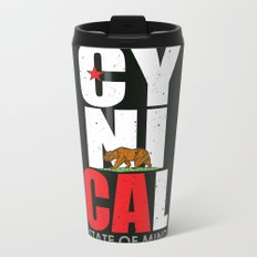 CyniCAl - white Metal Travel Mug