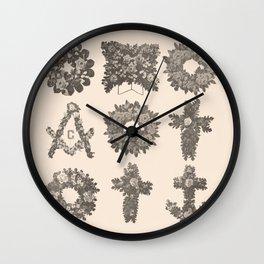 Funeral Wreaths Wall Clock