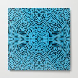 Kaleidoscope blue and black Metal Print
