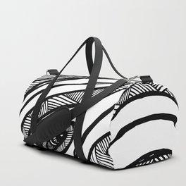 Organic Black & White lines Duffle Bag