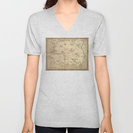 Map of Imirillia Unisex V-Neck