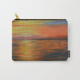 Abstract Art, Ocean Sunset, Seascape Painting Carry-All Pouch