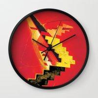 revolution Wall Clocks featuring Revolution by Andrej Balaz