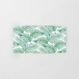 Palm Leaves_Bg White Hand & Bath Towel