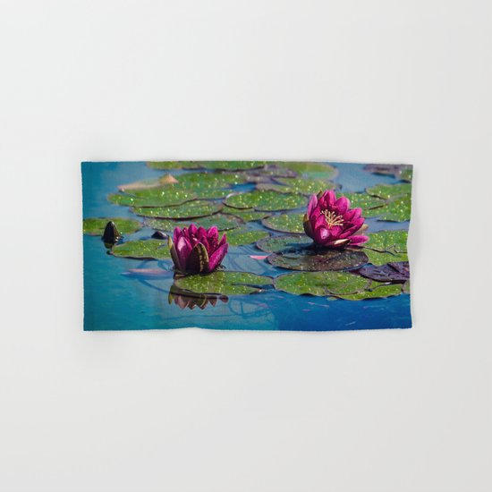 Two water lilies Hand & Bath Towel