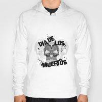 dia de los muertos Hoodies featuring Dia De Los Muertos by Digi Treats 2