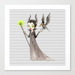 Maleficent and Diaval Canvas Print