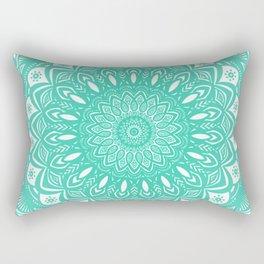 Minimal Aqua Seafoam Mint Green Mandala Simple Minimalistic Rectangular Pillow