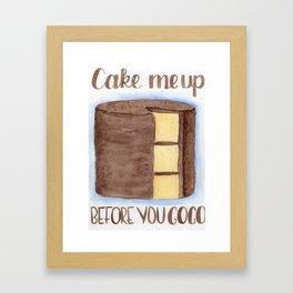 cake me up Framed Art Print