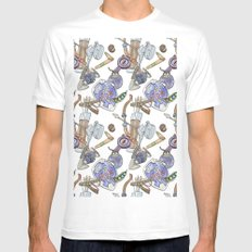 Ocarina Patterns Mens Fitted Tee White SMALL