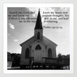 Church with a Prayer Art Print