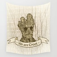 groot Wall Tapestries featuring Groot by Lynn Bruce