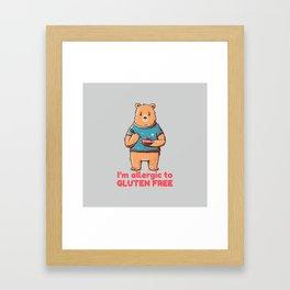 I'm allergic of gluten free Framed Art Print