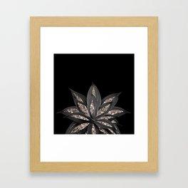 Gray Black Agave with Rose Gold Glitter #1 #shiny #tropical #decor #art #society6 Framed Art Print