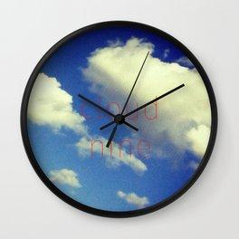 """Cloud Nine"" Wall Clock"