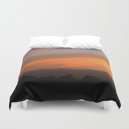 Sunset in Vermont Duvet Cover