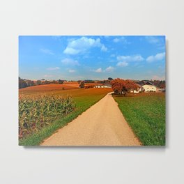 Hiking through a peaceful scenery III | landscape photography Metal Print